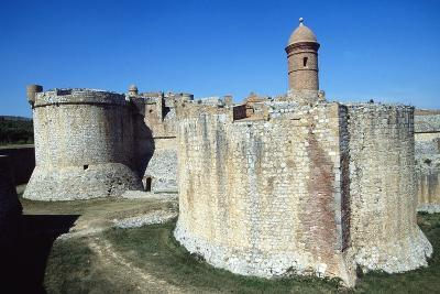 View of the Fortress of Salses, 1497-1502, Salses-Le-Chateau, Languedoc-Roussillon, France