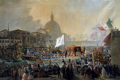 Victor Emmanuel II Arriving in Venice, by Christmas