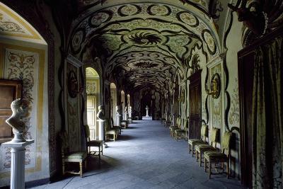 Gallery of Sarre Royal Castle, Aosta, Valle D'Aosta, Italy, 13th Century