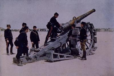 120MM Cannon at Attack of Marchais, World War I, France
