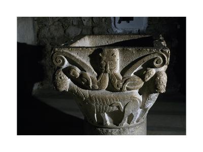 Detail from Capital, Complex of the Holy Trinity, Venosa, Basilicata, Italy