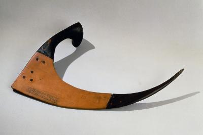 Sickle with Ceremonial Inscriptions, Wood