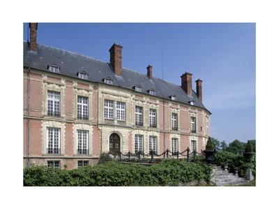 Main Facade of Chateau De Lesigny, Ile-De-France, Detail, France, 16th-20th Century