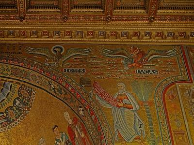 Mosaic in the Apse with St John, St Luke and the Prophet Jeremiah