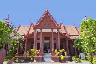 Facade of the National Museum Building in Phnom Penh, Cambodia