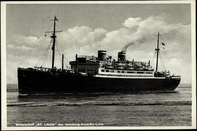 Motorschiff St Louis, Hapag, Dampfschiff in Fahrt