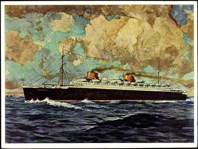 Künstler Graf, G.,Nordd. Lloyd Bremen, Dampfer Bremen