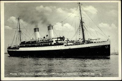 HSDG,Zweischrauben Motorschiff Monte Olivia, Dampfer