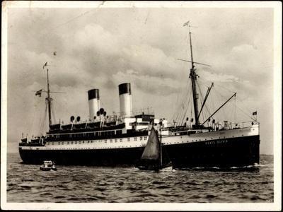 Dampfer Monte Olivia Der HSDG, Segelboot, Beiboot