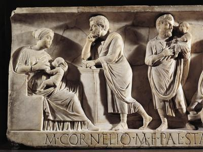 Sarcophagus of M. Cornelius Statius with Scenes from His Childhood