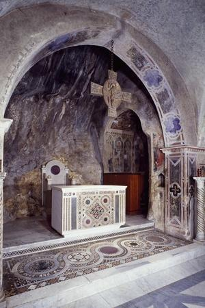 Lower Church of Sacro Speco Monastery, Subiaco, Italy, 12th Century