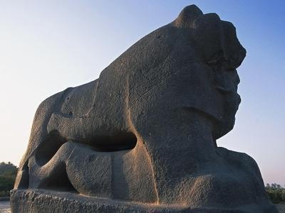 Stone Lion, War Trophy of Nebuchadnezzar II, Babylon, Iraq
