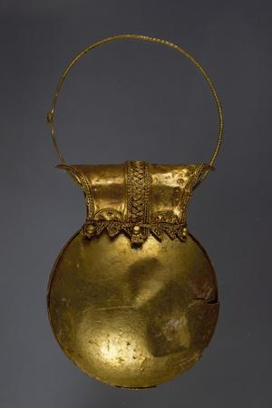 Gold Earring in Shape of Bulla from Excavations of Pompeii, Campania, Italy