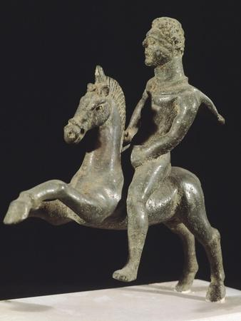 Knight on Horseback, Bronze Votive Statue Found in Campania, Italy, 3rd Century BC