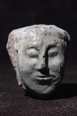 Fragment of Terracotta Antefix of Female Head, from Serra Di Vaglio, Basilicata, Italy