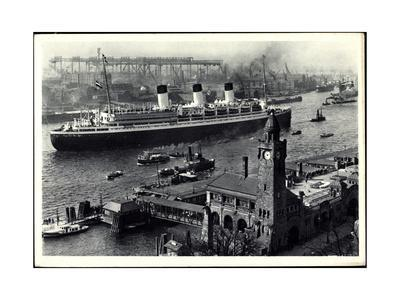 HSDG, Schnelldampfschiff Cap Arcona Am Hafen