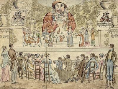 France, Paris, a Play About Gargantua at the Tivoli Gardens in Paris, 1805