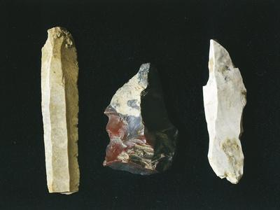 Paleolithic Flint Tools, Scrapers