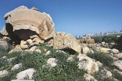 Italy, Sicily, Agrigento, Valley of Temples, Temple of Jupiter