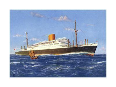 Künstler Norddeutscher Lloyd, Dampfer Scharnhorst