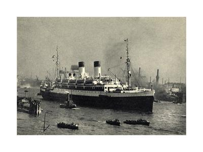 HSDG, Zweischrauben Monte Dampfschiff, Hafenausfahrt