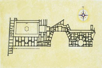 Plan of Roman Golden House 'Domus Aurea' AD
