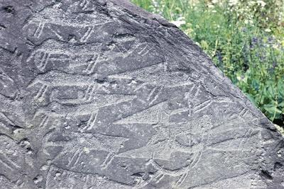 Italy, Lombardy Region, Camonica Valley, Cemmo, Massi Di Cemmo, Rock Carvings