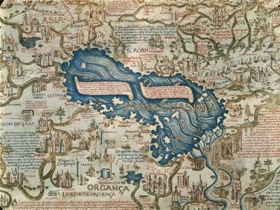 The Caspian Sea from World Map by Camaldolese Monk Fra Mauro, 1449