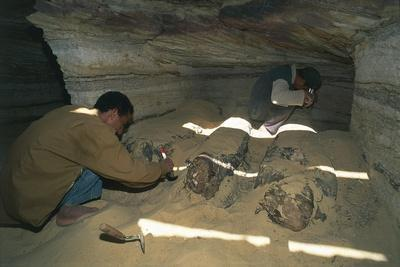 Egypt, Bahariya Oasis, Valley of the Golden Mummies, New Excavations