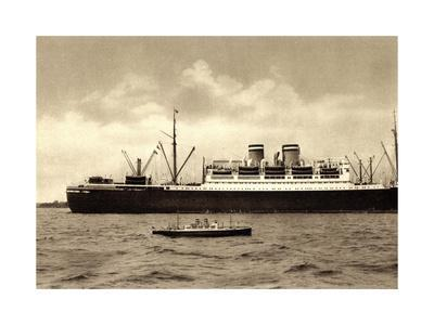 Hapag, Dampfer Hamburg, Modellboot, D. Bartsch