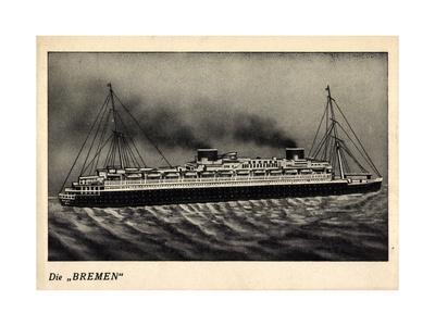 Norddeutscher Lloyd Bremen, Model Der Bremen, Dampfer