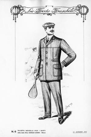 Men's Fashion Plate, from La Moda Maschile, June 1, 1911