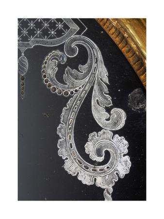 Acid-Etched Venetian Mirror, Lombard Frame, Italy