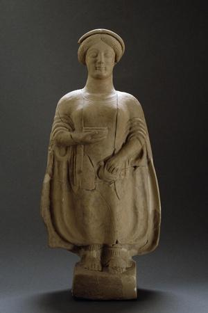 Female Figure, Terracotta Sculpture from Medma, Rosario, Calabria, Italy