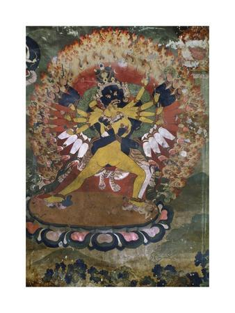 Ancient Wall Paintings from Lamaist Monastery of Hemis, Laddakh, India