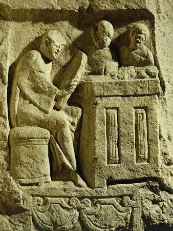 Relief Depicting a Merchant Eager to Make a Deal, from the Draper's Pillar, 3rd Century