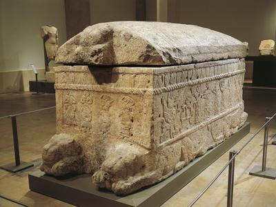 Limestone Sarcophagus of Ahiram, King of Byblos