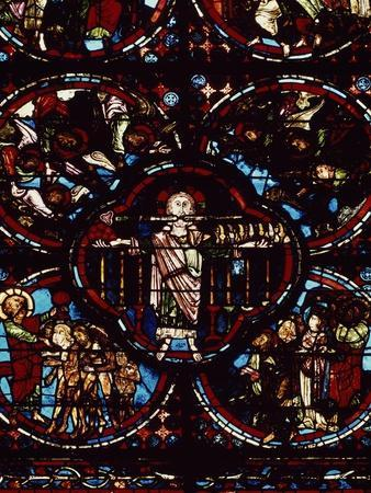 The Apocalypse, Detail Lower Section of Gothic Window, 12th-13th Century