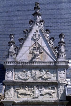 Decorative Detail from Chateau De Laval, Pays De La Loire, France