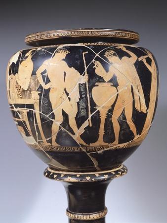 Attic Dinos Depicting Scene Showing Komos, 440 BC
