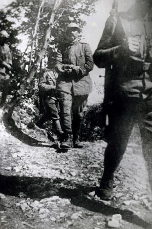 Cesare Battisti after Being Captured by Austrian Troops, July 10, 1916, World War I, Italy