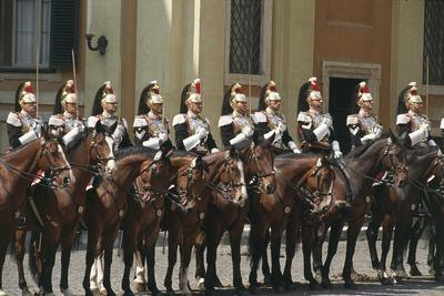 Soldiers on Horseback at Cuirassiers Gala