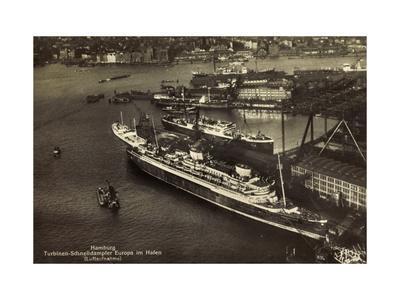 Hamburg, Norddeutscher Lloyd Bremen, Dampfer Europa