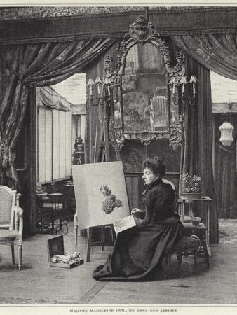 Madeleine Lemaire in Her Workshop