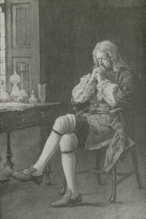 Sir Isaac Newton Sits Dreaming