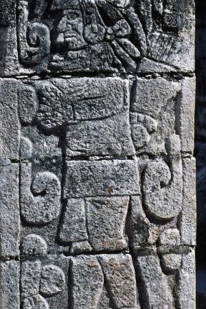 Human Figure, Stone Bas-Relief, Chichen Itza