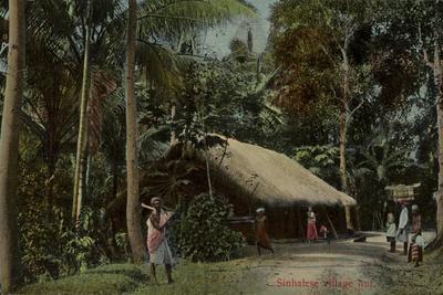 Sinhalese Village Hut in Sri Lanka