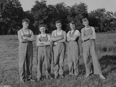 Winning Push Ball Team at a Company Picnic, 1919