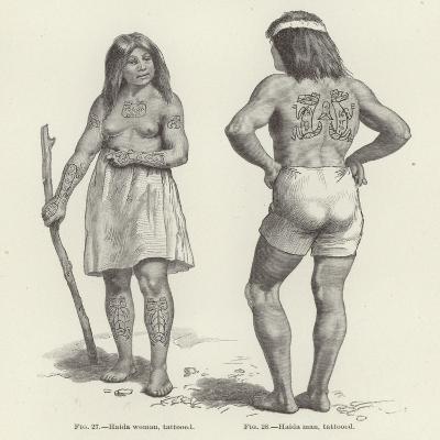 Tattooed Haida Woman and Man