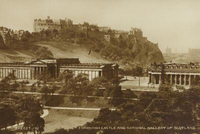 Edinburgh Castle and National Gallery of Scotland